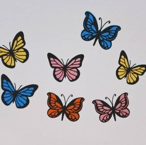 Set of 7 waterproof butterfly stickers